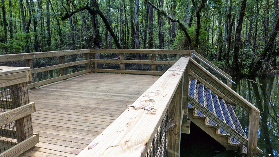 TrailMark Landing Steps to Six Mile Creek